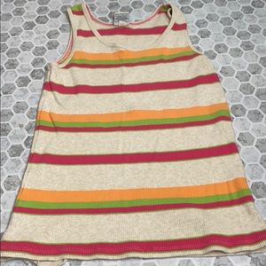Old Navy XL Striped Tank Top Bright Colors